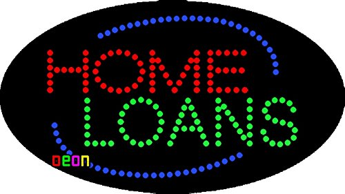 """15""""x27"""" Neon by Deon Animated Home Loans LED Sign w/Flashing Controller"""