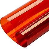 HOHO 2Mil Orange Tint Window Privacy Film Glass Decoration Self Adhesive Vinyl Door Decorative 152cmx50cm