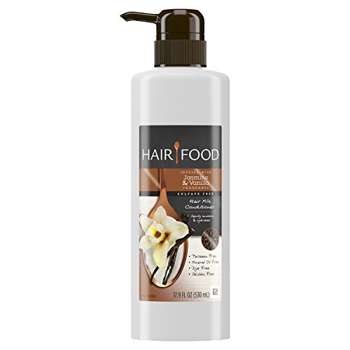 Shampoo Vanilla Conditioner Jasmine - Hair Food Sulfate Free Hair Milk Conditioner Infused with Jasmine & Vanilla Fragrance, 17.9 fl oz
