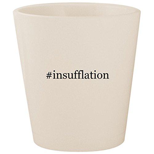 #insufflation - White Hashtag Ceramic 1.5oz Shot Glass