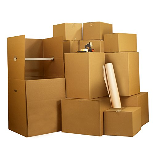 UBOXES 3 Room Wardrobe Kit 33 moving boxes, bubble roll, & moving supplies (Bedroom 1)