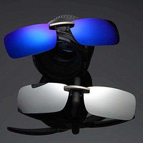 con Eyewear Hombre Sol IPOTCH plata Polarizada 400 blanca de UV Mujer Antideslumbrantes Protección para Solar Gafa Clip Anteojos wqw1I7