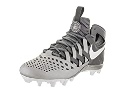 Nike Men's Huarache V Lax Grey Faux Leather Cleated Shoe 9.5