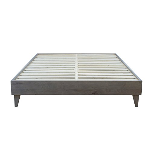 - eLuxurySupply Wood Platform Bed Frame | Solid Hardwood - 100% Handmade by Amish Craftsmen | No Box Spring Required Mattress Foundation | Mid Century Modern Bedroom Decor | Queen
