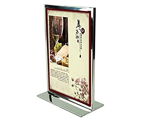 Amazon.com - Metal A4 Poster Frame Poster Stand Billboard Display Stand Double-sided Advertising Stand Exhibition Stand (white) -