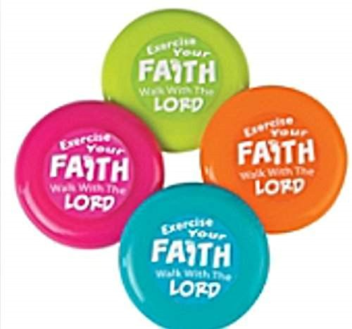Exercise Your Faith Mini Flying Discs - 12 (Exercise Your Faith)