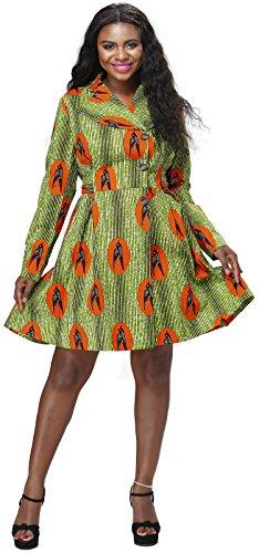Shenbolen Women African Dresses Print Long Sleeve Party Dresses ... 0f29ea24f06a