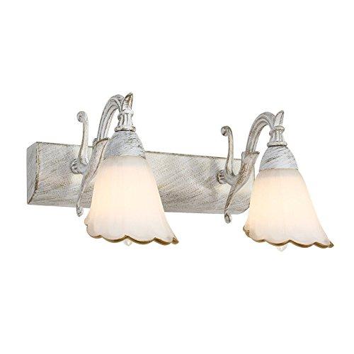 lámpara de pared Lámpara de espejo de hierro vintage pastoral europea faros pasillo pasillo lámpara de pared de noche Menting lighting Bdiong [Clase de eficiencia energética A++]