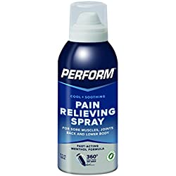 Perform Cooling Pain Relief Gel For Muscle Soreness, Post-Workout Aches, Joint Pain, Arthritis, and Back Pain, Non-NSAID Pain Reliever for Cold Therapy, Cryotherapy Topical Analgesic, 4 oz. Spray