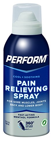 Perform Cooling Pain Relief Spray For Muscle Soreness, Post-Workout Aches, Joint Pain, Arthritis, and Back Pain, Non-NSAID Pain Reliever for Cold Therapy, Cryotherapy Topical Analgesic, 4 oz. Spray - Spray Analgesic