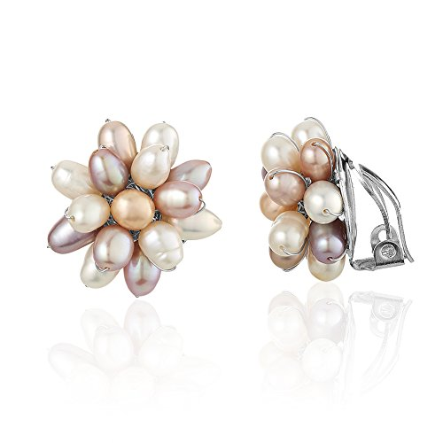 Clustered Cultured Freshwater Pearl Earrings product image
