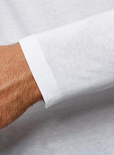 Maglia Cotone Etichetta Senza Henley Bianco1000n Ultra Uomo Oodji In 0wN8nmyvO