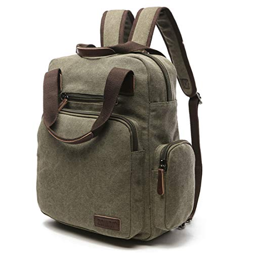 Impermeabile Armygreen Uomo Black Weatly Zipper Outdoor color donna Daypack Zaino Borse Laptop Vintage Canvas Per CwXqXgxZ