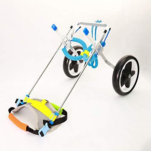 Jump Adjustable Dog Pet Wheelchair for Hind Legs Rehabilitation, 2 Wheels Dog Cart Wheels (M)