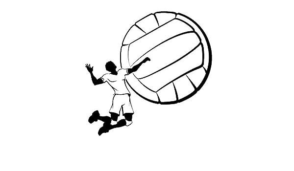 yiyiyaya Vinilo de Pared de Deportes Etiqueta de Voleibol Juego de ...