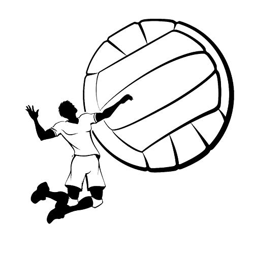- Sports Wall Vinyl Sticker Decal Volleyball Game Sport Ball Player Leap Feed Gym Decoration H Decor for Boys Room L040