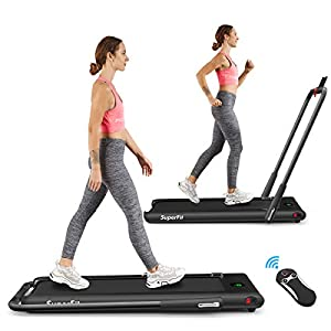 Well-Being-Matters 41%2B0v9v4c-L._SS300_ Goplus 2 in 1 Folding Treadmill, 2.25HP Under Desk Electric Treadmill, Installation-Free, with Remote Control, Bluetooth…