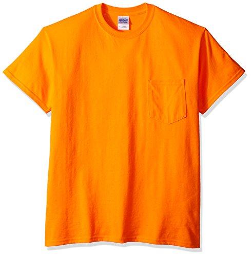 Gildan Men's Workwear Pocket T-Shirt, Safety Orange, X-Large (Chest T-shirt Gildan Pocket)
