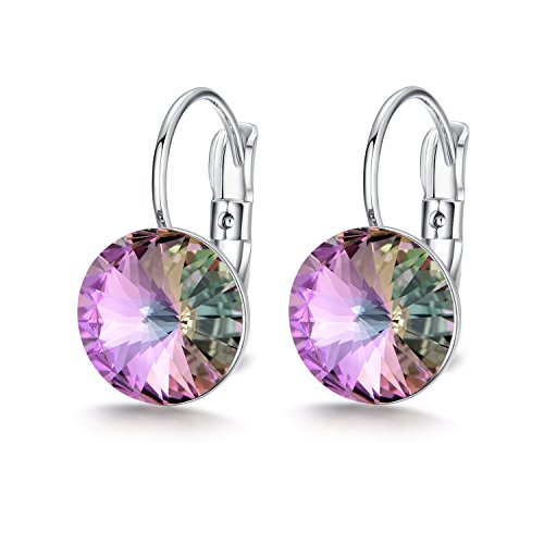Swarovski Earrings, Leaver Back Earrings Made with Swarovski Crystals 10mm for womens