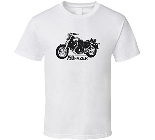 CarGeekTees.com 750 Fazer Motorcycle Side View with Model Light Color (Fazer Motorcycle)