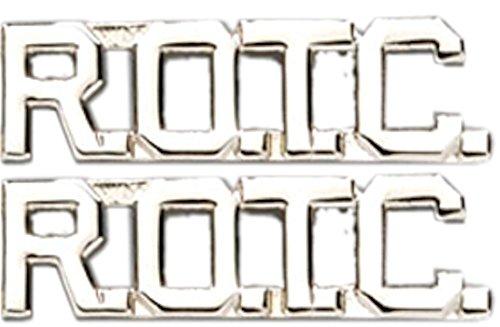 (ROTC Collar Insignia Letters Military Pin (Silver/Nickel (No Shine)))