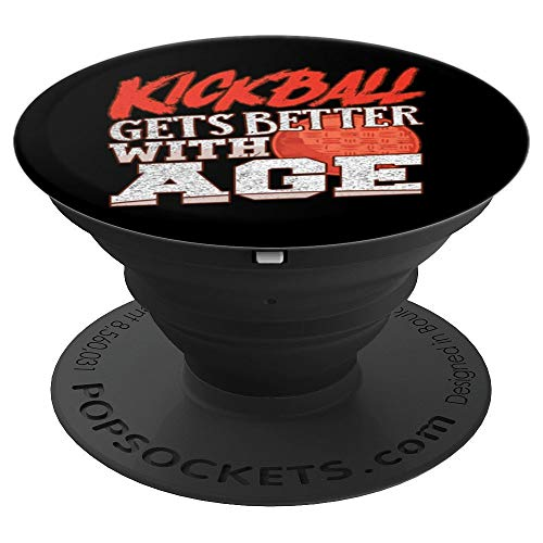 Adult Kickball Player Kickball Gets Better With Age - PopSockets Grip and Stand for Phones and Tablets (Kickball Player)