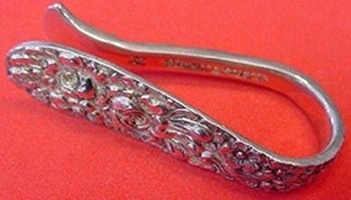 (Rose By Stieff Sterling Silver Napkin Clip 2 1/4