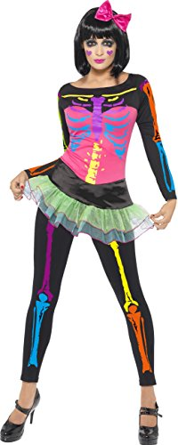 Baby Take A Bow Costume (Smiffys Women's Neon Skeleton Costume)
