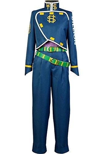 UU-Style JoJo's Bizarre Adventure Okuyasu Nijimura Cosplay Costume Halloween Uniform Outfit -