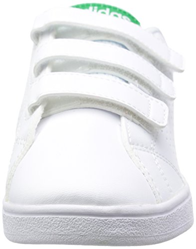adidas Vs ADV CL CMF C, Zapatillas Unisex Niños Blanco (Footwear White / Green 0)