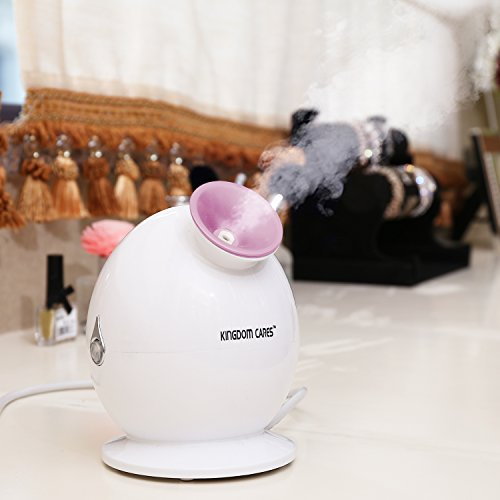 Valentines Gift KINGDOMBEAUTY Steamer Warm Mist Facial Steamer Hot Mist Moisturizing Face Steamer Personal Sauna SPA Unclogs Pore Blackheads Acne Skin Cares Atomizer Humidifier Ionic Sprayer Pink