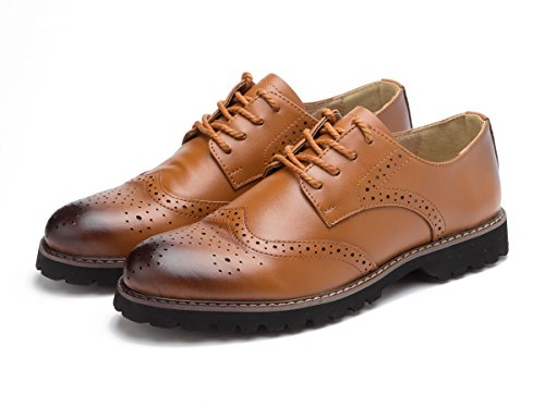 Oyangs Oxford Shoes Women Womens Oxfords Wingtip Women Oxford Wingtip Black Dress Flat Brown Laces Leather Casual Wing Suede Vintage Shoes Oxford (US9, (Casual Oxford Shoe)