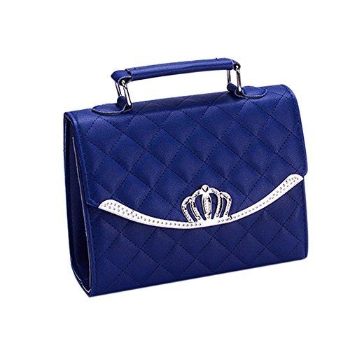 espeedy Sac de des nouvelles de luxe de la couronne du sac de totalizador de des femmes du sac d'épaule de les Señoras de la manière Sac d'épaule du sac bleu