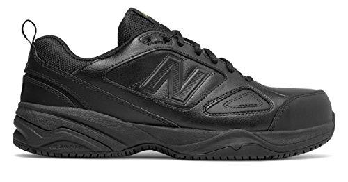 幽霊悪性の風が強い(ニューバランス) New Balance 靴?シューズ メンズワーク Steel Toe 627v2 Leather Black ブラック US 7 (25cm)