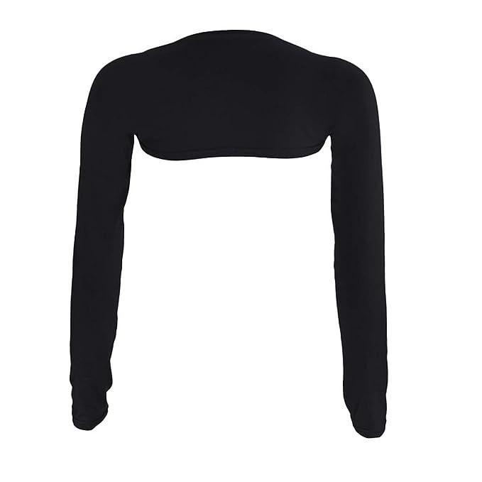 7dc50596136ed4 BCDshop Women Modal Hayaa Fashion One Piece Sleeves Arm Shaper Cover Shrug  Bolero Hijab Muslim (Free Size, Black) at Amazon Women's Clothing store: