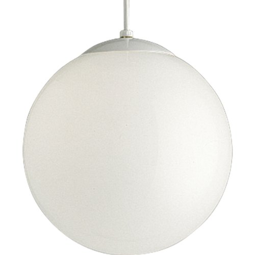 Progress Lighting P4403-29 Opal Cased Globes Provide Evenly Diffused Illumination White Cord, Canopy and Cap, Satin White