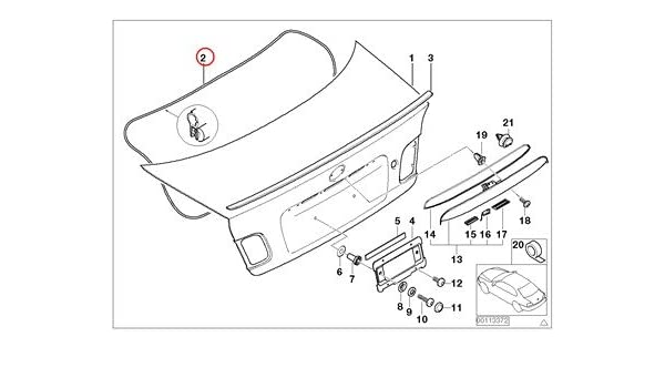 Amazon Com Bmw Genuine Single Components For Trunk Lid Trunk Lid