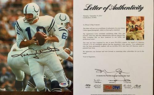 Johnny Unitas Autographed Signed Baltimore Colts 8x10 Photo PSA PSA/Dna Letter Z03992