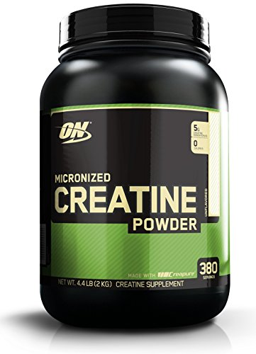Optimum Nutrition Micronized Creatine Monohydrate Powder, Unflavored, Keto Friendly, 380 Servings