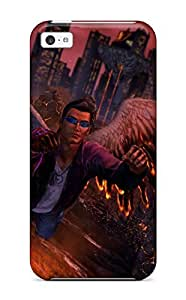 5925667K31121650 Iphone 5c Case Cover - Slim Fit Tpu Protector Shock Absorbent Case (saints Row: Gat Out Of Hell)