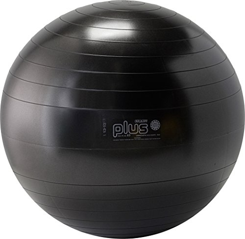 Gymnic Plus Burst-Resistant Exercise Ball, Black (65 cm) by Gymnic