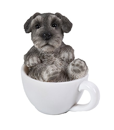 Pacific Giftware Mini Schnauzer Adorable Mini Teacup Pet Pals Puppy Collectible Figurine 3.25 Inches