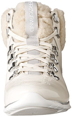 Cole Haan Womens Zerogrand Hikr Boot Optic White Waterproof Patent-silver Spe fKMrb7
