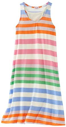 Splendid Big Girls' Tropical Stripe Dress and Camisole, Capri, 7/8