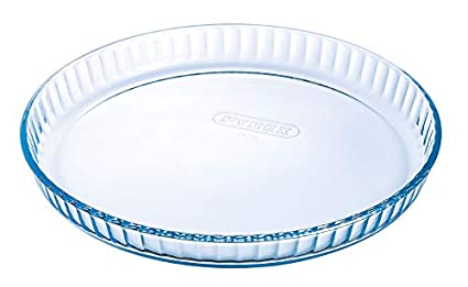 Pyrex Classic Vidrio - Molde plano para tarta, 30 cm