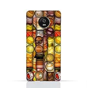 Motorola Moto E4 TPU Silicone Case With Abstract Bubble Background