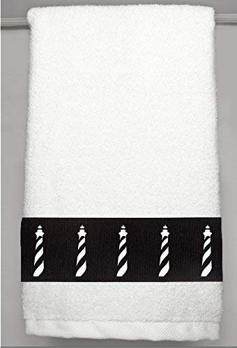 Cape Hatteras Lighthouse Heavy Cotton Hand Towel - In Your Choice of Colors - Custom Made - With or Without Initials/Short Name
