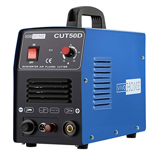 Blue Cutter - VIVOHOME DC Inverter Non-Touch Pilot Arc Plasma Cutter Cutting Machine Dual Voltage 110V/220V CUT50D Blue