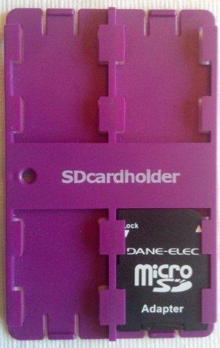 (SD Card Organiser Standard Credit Card Size Secure Digital Memory Card Case (Purple))