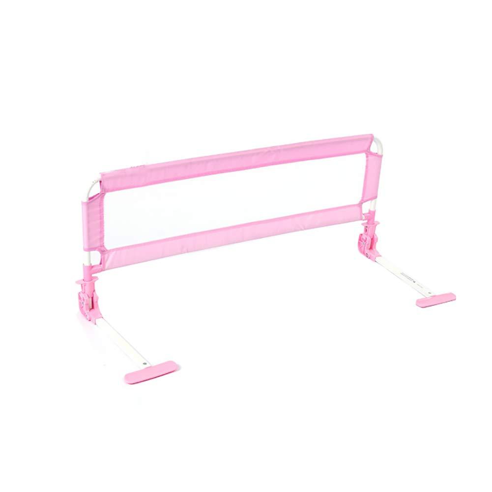 ベビーサークル 赤ちゃん男の子女の子のための折り畳み式のベッドガードレール、キングクイーンツインベッドのための幼児子供のための金属のベッドレールフェンス (色 : Pink, サイズ さいず : Length 150 cm) Length 150 cm Pink B07MZXMH6Y